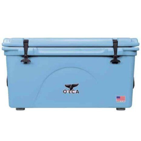 light blue cooler