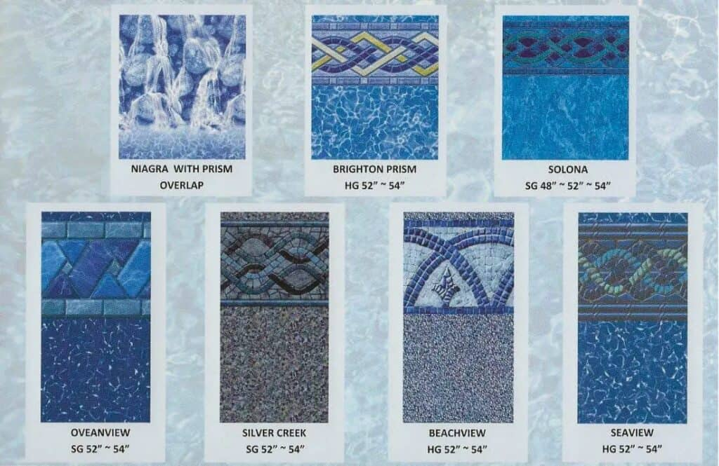 pool liner patterns pool cover closing in North Shore by St Cyr Pool and Spa